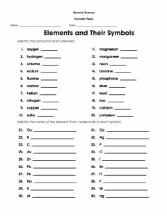 Interactive worksheet PeriodicTable of Elements