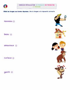 Interactive worksheet Adjectifs