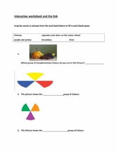 Interactive worksheet Colour groups