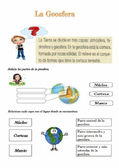 Interactive worksheet La Geosfera