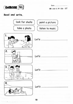 Ficha interactiva Year 2 Unit 9 At The Beach (Let's... + Response)
