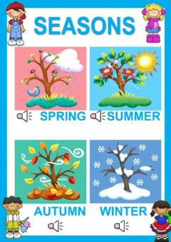 Interactive worksheet Seasons for kids