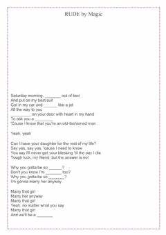 Interactive worksheet Song-Rude by Magic