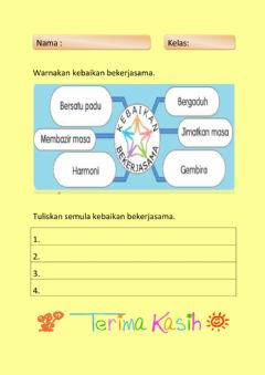 Interactive worksheet Kerjasama