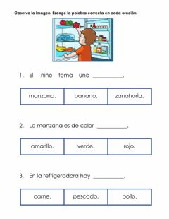 Interactive worksheet Completar oraciones