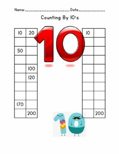Ficha interactiva Count By 10's
