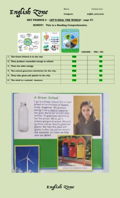 Ficha interactiva HEY FRIENDS 2 - LET'S HEAL THE WORLD! page 57