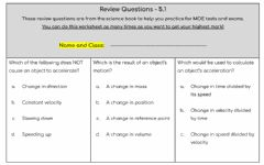 Interactive worksheet Review Questions - 5.1