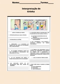 Interactive worksheet Tirinha