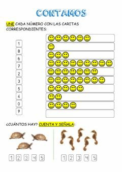 Interactive worksheet Contamos y ordenamos