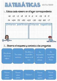 Interactive worksheet Números enteros 2
