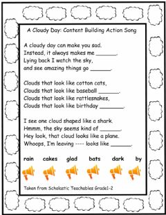 Interactive worksheet A Cloudy Day
