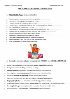 Interactive worksheet END of TERM EXAM - FORM V