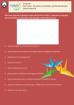 Interactive worksheet Plan lector: No somos irrompibles