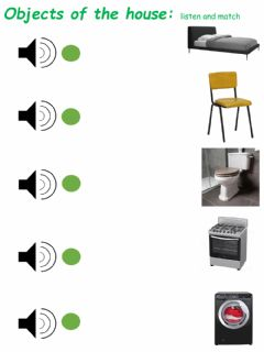 Interactive worksheet Objects of the House
