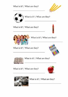 Interactive worksheet What is it - What are they