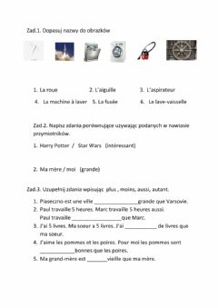 Interactive worksheet Les inventions