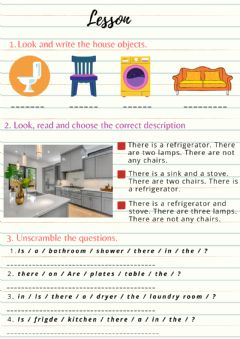 Interactive worksheet There is and are