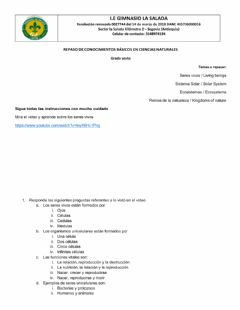 Interactive worksheet Review Natural science