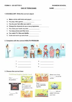 Interactive worksheet END of TERM EXAMS - IV