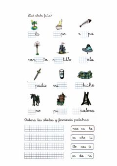 Interactive worksheet Sílabas inversas 6