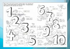 Interactive worksheet Animals and numbers to 10