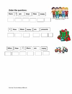 Interactive worksheet Activity on How Many Questions