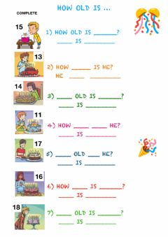 Interactive worksheet How old is...