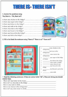 Interactive worksheet There is- isn't
