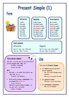 Interactive worksheet Simple present tense