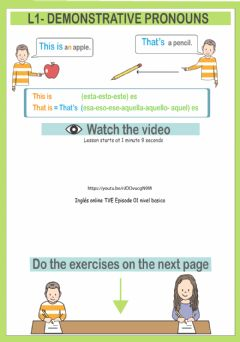 Interactive worksheet Demonstratives-this-that