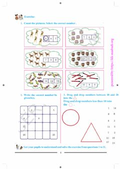 Ficha interactiva Do Exercise-PageNo16-Numbers from 1 to 20- 2nd Class Mathematics