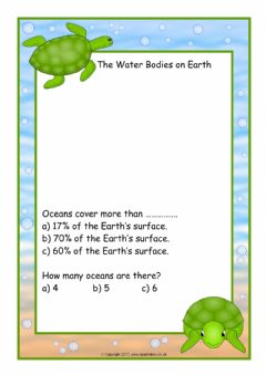 Interactive worksheet The Water Bodies