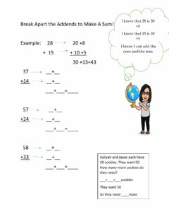 Interactive worksheet 4.3 Go Math REview