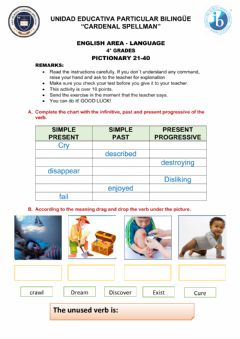 Interactive worksheet Pictionary 21-40