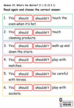 Interactive worksheet Module 10 What's the Matter