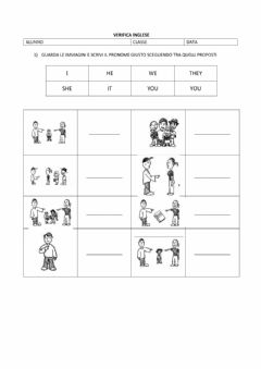 Interactive worksheet Personal pronouns and to be