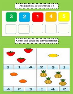 Interactive worksheet Count and Select