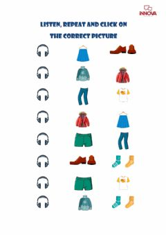 Interactive worksheet Tiger New 2. Unit 3. Clothes Vocabulary 1
