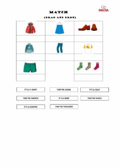 Interactive worksheet Match (Drag and drop)