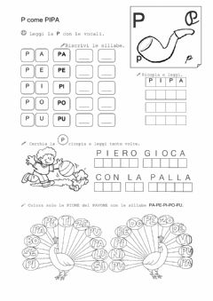 Interactive worksheet Lettera P