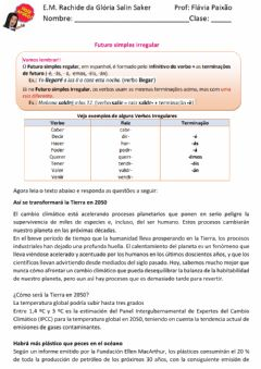 Interactive worksheet Futuro irregular 2