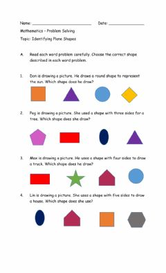 Interactive worksheet Identifying Plane Shapes