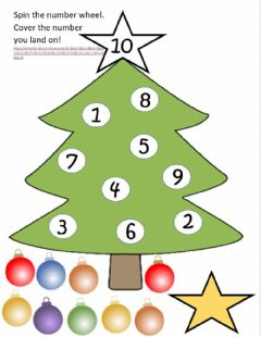 Interactive worksheet Christmas Number Math