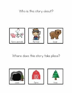 Interactive worksheet Bear Stays up at Christmas