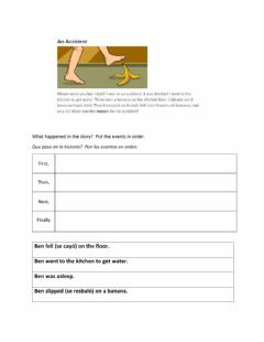Interactive worksheet Sequencing -An Accident- New