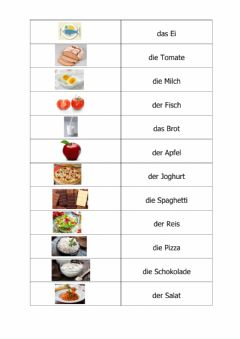 Interactive worksheet Die Lebensmittel