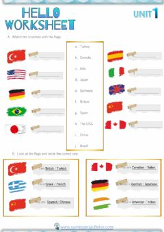 Ficha interactiva Countries and Nationalities