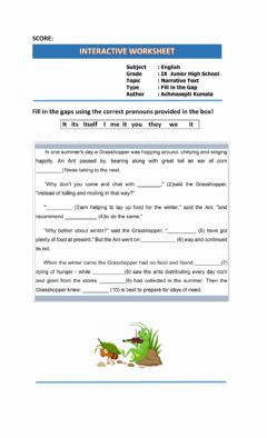 Interactive worksheet Narrative Text