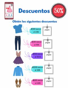 Interactive worksheet Descuentos